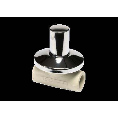 Проходной клапан под штукатурку с металлической крышкой 20 SVEPLK020X
